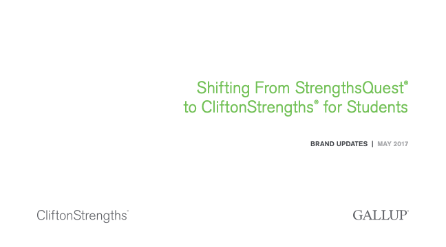 CliftonStrengths for Students Gallup Branding Guide